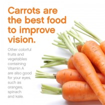 Improve your vision with a healthy diet.
