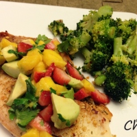 Tilapia & Strawberry Mango Salsa